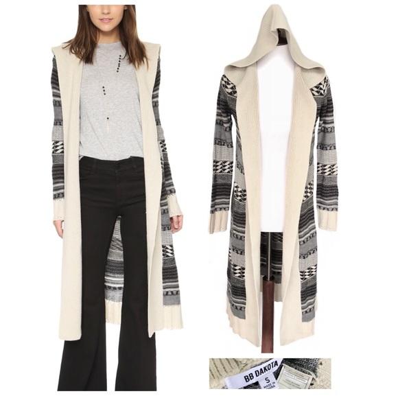 BB Dakota Sweaters - Bb Dakota long hooded sweater jacket duster